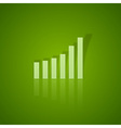 business graph up vector image vector image