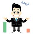 businessman education textbooks vector image vector image
