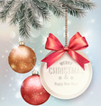 Christmas background with colorful balls and gift