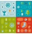 Christmas flat infographic vector image