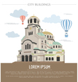 City buildings graphic template Bulgaria Sofia vector image vector image
