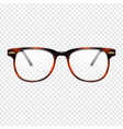 classic eye glasses vector image