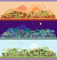 collection of tropical rainforest vector image
