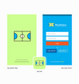 company football ground splash screen and login vector image vector image