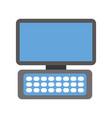 computer keyboard device modern technology vector image