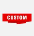 custom vector image vector image