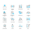 customer satisfaction icon collection set vector image vector image