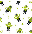 cute battery character seamless pattern childish vector image