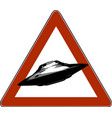danger road signs ufo icon vector image