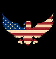 eagle silhouette with usa flag background design vector image vector image