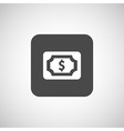 Flat icon of money market business sign symbol vector image vector image