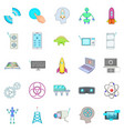 future generations icons set cartoon style vector image vector image