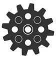 Gearwheel Flat Icon vector image
