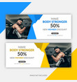 gym fitness facebook cover template vector image vector image