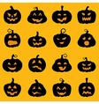 Halloween decoration Jack o Lantern silhouette set