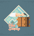 hand with box food delivery service icon vector image