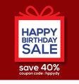Happy Birthday Sale Banner vector image vector image