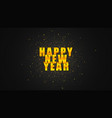 happy new year golden banner vector image vector image