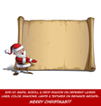 Happy Santa Scroll Presenting vector image vector image