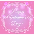 Happy valentine day card with decorative frame vector image vector image