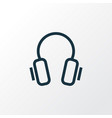 headphone outline symbol premium quality isolated vector image vector image