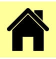 Home silhouette Flat style icon vector image vector image