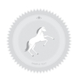 Horse Badge vector image vector image