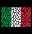 italy flag pattern of drop icons vector image