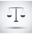 Justice scale icon vector image vector image