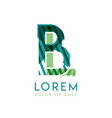 lb luxury logo design with green and dark green vector image vector image