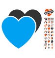 love hearts icon with love bonus vector image vector image