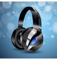 modern big headphones vector image vector image