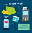 money transaction and payment options vector image