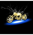 motorcycle with lightning vector image
