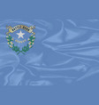 nevada state silk flag vector image vector image