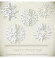New Year snowflakes vector image vector image