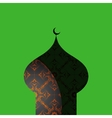 Oriental ornament shaped as mosque vector image vector image