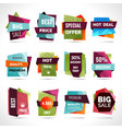 Origami Sale Labels vector image