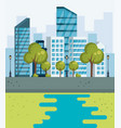 park urban cityscape scene vector image vector image