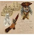 Pirates - Naval Battles vector image vector image