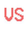 red versus sign in pixel art vector image vector image