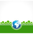 save nature concept - world environment day vector image vector image