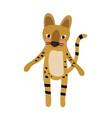 serval cat standing on two legs animal cartoon