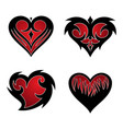set love tribal icon symbol for graphic and web vector image vector image