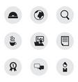 set of 9 editable bureau icons includes symbols vector image vector image