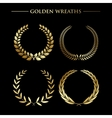 Set of golden wreaths vector image vector image