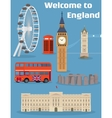 set of the London famous place and landmark vector image vector image