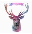 set watercolor cute deer vector image