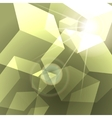 shining green cubes abstract background vector image vector image