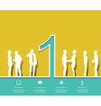 Silhouette people number 1 Design vector image
